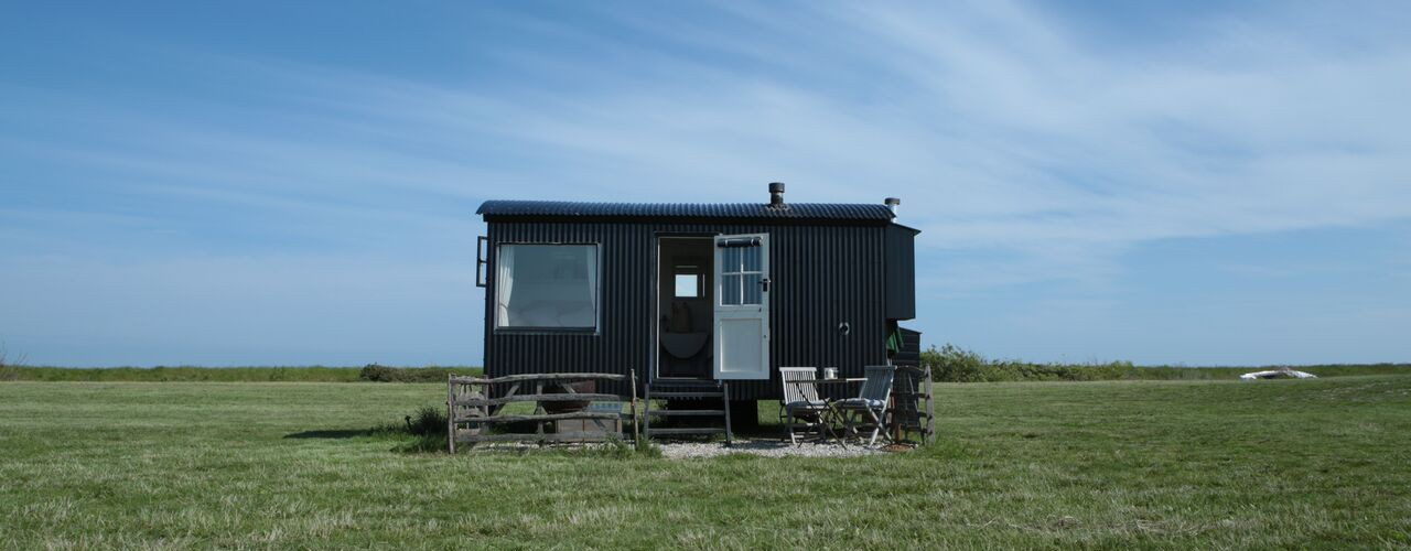 Sussex shepherds hut glamping