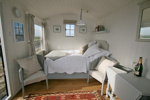 Glamping double bed Romney Marsh