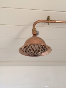 unusual copper shower