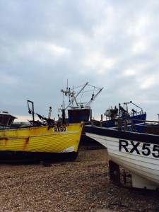Trawlers in Hastings