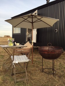 Firepit and bbq glamping